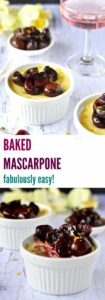 BAKED MASCARPONE is a healthier and easier version of creme brûlée with a gorgeously decadent creamy custard but without the hassles of making a custard. It's the easiest dessert you'll ever make! | Plus Ate Six
