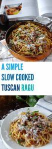 A very simple Tuscan pork ragu   Plus Ate Six